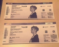 2 Ticket Justin Bieber Wien Front of the Stage