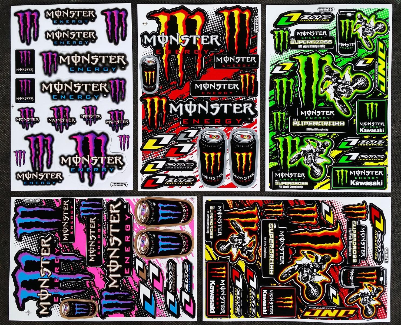 60x monster energy drink aufkleber sticker atv. Black Bedroom Furniture Sets. Home Design Ideas