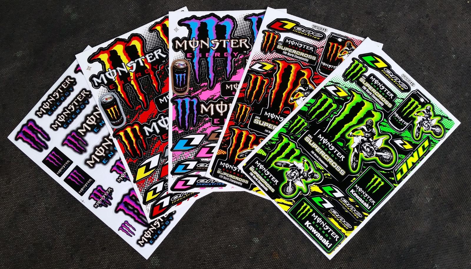 60x Monster Energy Drink Aufkleber Sticker Atv Supercross
